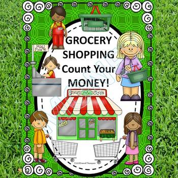 """Grocery Shopping """"Counting Money"""" (Money Worksheets)"""