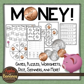 Money Games, Worksheets, and Activities