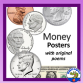 Money Posters - U.S. Coins and Dollar Bill