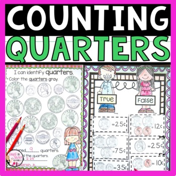 Counting Quarters Activities Teaching Resources | Teachers Pay Teachers