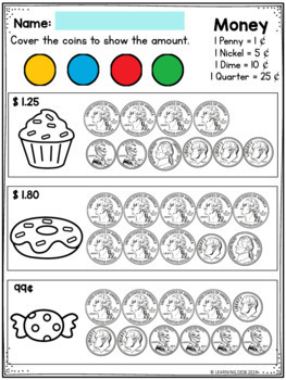 Counting Money Worksheets-Counting Coins Worksheets First and Second ...