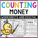 Counting Money Coins Worksheets Google Slides First Second Grade