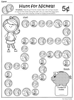 Money Worksheets 1st Grade