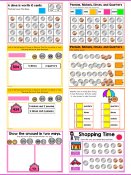 counting money worksheets identifying coins and adding coins tpt. Black Bedroom Furniture Sets. Home Design Ideas