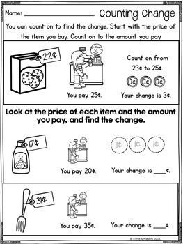 counting money worksheets identifying coins and adding. Black Bedroom Furniture Sets. Home Design Ideas