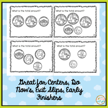 Money - Adding Coins Task Cards