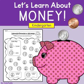 Money Worksheets Kindergarten By My Study Buddy Tpt