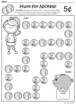 money worksheets kindergarten by my study buddy tpt. Black Bedroom Furniture Sets. Home Design Ideas
