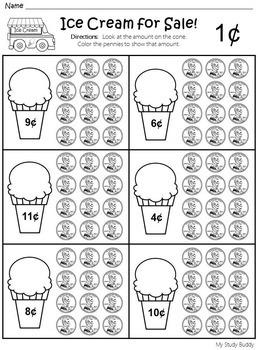 Money Worksheets Kindergarten by My Study Buddy | TpT