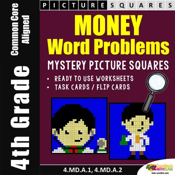 Money Word Problem Fourth Grade Math Coloring Pages Mystery Pictures