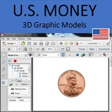 U.S. Money 3D Models for Whiteboards and Smartboards United States Currency