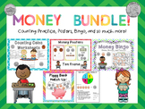 First Grade Money Activities / Counting Coins VA SOL 1.8