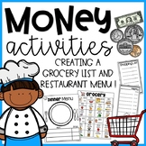 Money Activities {Creating a Grocery List and Menu}