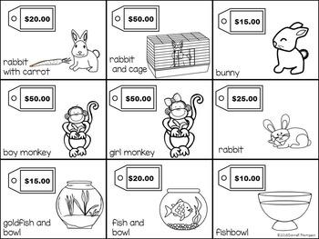 "Pet Shopping ""The Pet Store"" (Money Activities)"