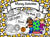 Money Activities- Puzzles With QR Codes, Scoot, I Spy Math