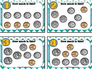Money Activities (Task cards, Menus, Counting Coins)