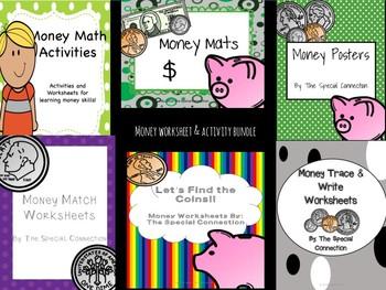 Money Activities and Worksheet Super Bundle