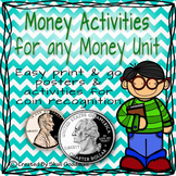 Money Activities for any Money Unit