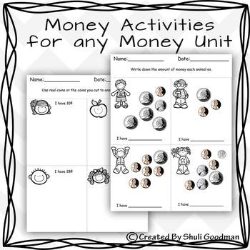Money Activities for any Money Unit