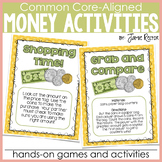 Money Activities for any Money Unit - Aligned to CCSS