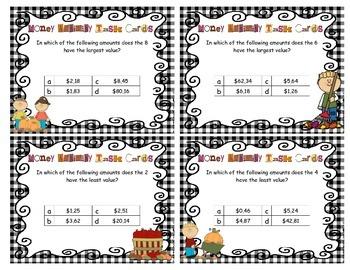 Money: Activity task cards