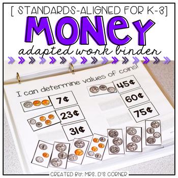 Money Adapted Work Binder