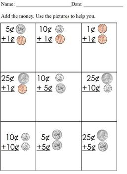 Counting Money, Adding Coins; Special Ed Modified Curricul