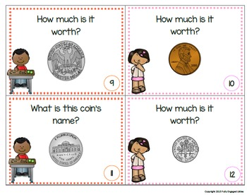 Money and Adding Coins Task Cards