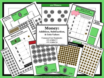 Money: Addition, Subtraction, & Coin Values