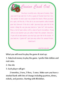 Money Addition and Subtraction Game