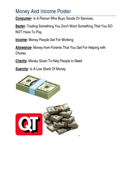 Money And Income Poster