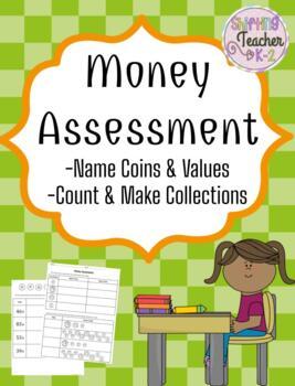 Money Assessment - 1st Grade by Shifting Teacher K-2 | TpT