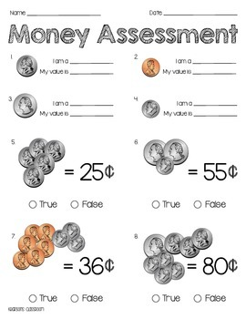 Money Assessment, Poem and Activity