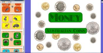 Money - Australian Coins Activinspire Whiteboard Flipchart