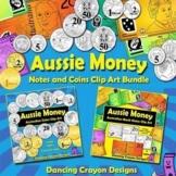 Money: Australian Coins / Notes Currency Clip Art Set