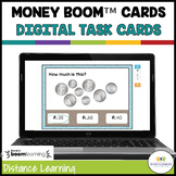 Money BOOM Cards: Digital Task Cards Coins with a Beach Th
