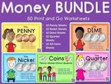 Money BUNDLE– Penny, Nickel, Dime, Quarter, Coins