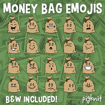 Money Bag Emoji Clip Art, Flour Sack, Emoticons, Facial Expressions, Emotions