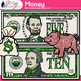 Money Clip Art {Counting and Sorting, Place Value, & Coin Recognition}