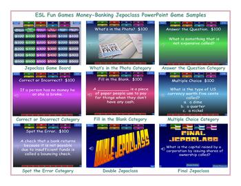 Money-Banking Jeopardy PowerPoint Game Slideshow