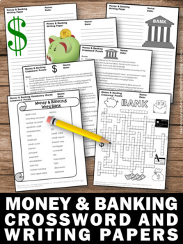 Financial Literacy Vocabulary Crossword Puzzle, Money and Banking