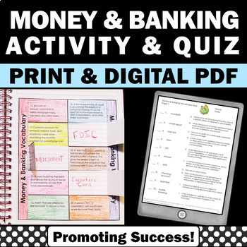 life skills banking and money financial literacy vocabulary activities. Black Bedroom Furniture Sets. Home Design Ideas