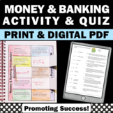 Financial Literacy Vocabulary, Money and Banking, Real World Applied Math