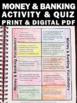 Financial Literacy Interactive Notebook Vocabulary Money &