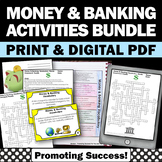 Personal Financial Literacy Unit BUNDLE Consumer Math Skills Vocabulary Words
