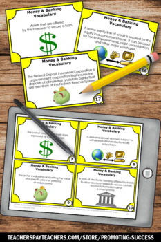 Financial Literacy Vocabulary, Money Banking Terms, Applied Math High School