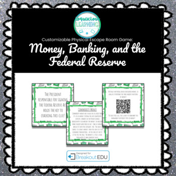 Money, Banking, and the Federal Reserve Customizable Escape Room / Breakout Game