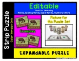 Money / Bill - Expandable & Editable Strip Puzzle with Mul