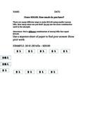 Money Bills Combination Worksheet