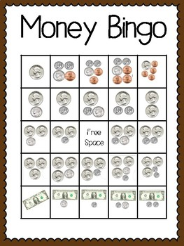 Money Bingo (30 completely different cards & calling cards included!)